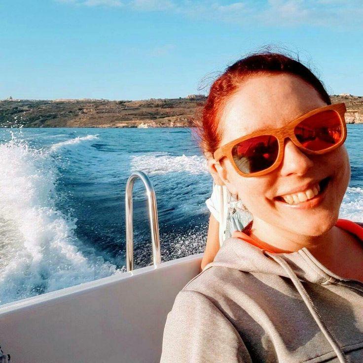 Enjoying Malta with red bamboo sunglasses. 🌱💚😎 #bambooska travel series