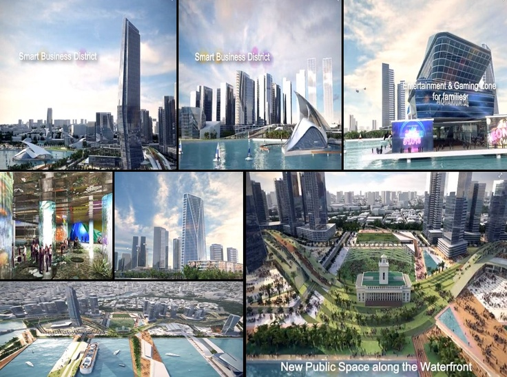 Manila bay South Harbor expanded port zone project - Manila Financial Center  see video:    http://www.youtube.com/watch?v=LHiysdhZNQo