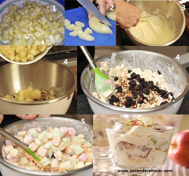 Hoy en manualidades aprender a hacer les traemos esta receta de ensalada que es muy fácil de hacer y es un postre muy original para la fiesta navideña.