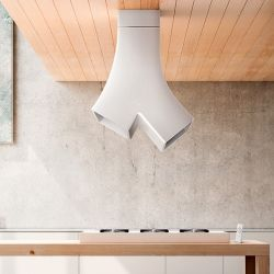 YE is an exhaust hood for the kitchen, designed by Fabrizio Crisa for Elica.