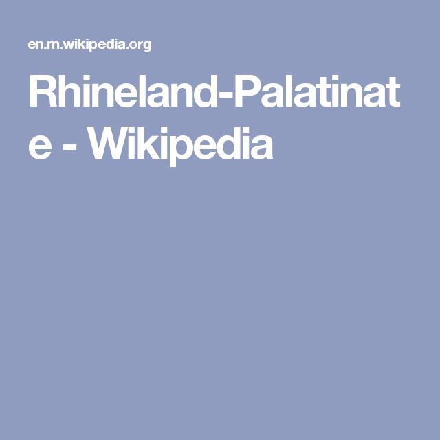Rhineland-Palatinate - Wikipedia