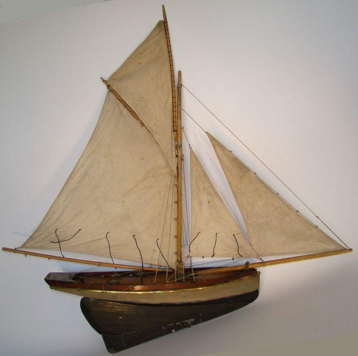 Barque de p che deffain type bateau pilote du havre s rie fine 87cm voiliers de bassin - Voilier de bassin ancien nanterre ...