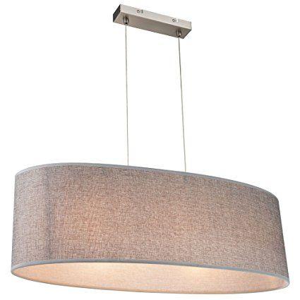 Hochwertige Pendel Lampe Textil Beleuchtung rund Hänge Leuchte Globo 15185H2