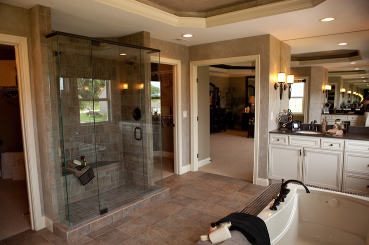 Great Master Bath And Shower From Fischer Homes