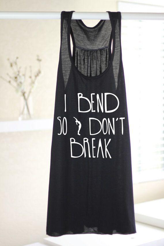 I Bend So I don't Break  Women's Yoga Tank  by ArimaDesigns