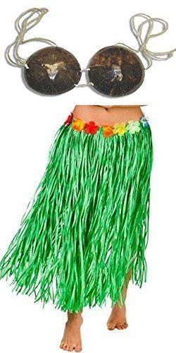 """Adult Size GREEN GRASS HULA Skirt with COCONUT BRA - 34"""" ... https://www.amazon.com/dp/B008TRBWEY/ref=cm_sw_r_pi_dp_diLwxb7PVRZ2M"""