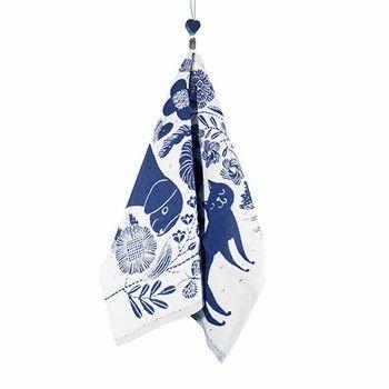 Koira Ja Kissa linen/cotton kitchen towel