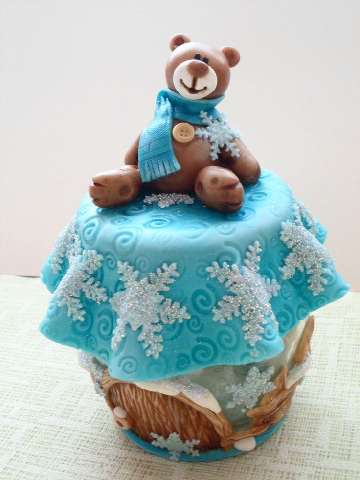 лепка холодный фарфор новый год рождество декор мишк