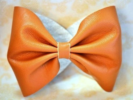 leather bow cuff  cute!