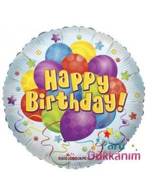 Happy Birthday  Balloon Bunches Folyo Balon 45 cm