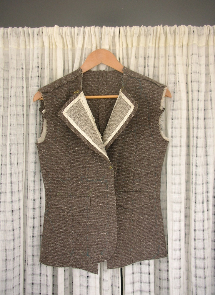tailored jacket--in progress