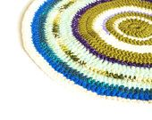Children Rug Crochet Rug Round Rug Knitted Rug spring color gift green blue white Handmade Home Decoration Carpet Recycled Crochet Rug