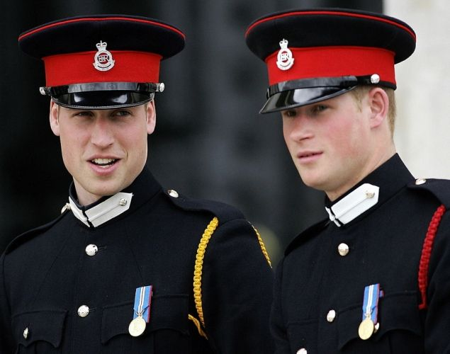 Prince William and Prince Harry, 2006  Prince William and Prince Harry are certainly well suited for royalty! Here, the two brothers dress in uniform at the Royal Military Academy, where William became an officer cadet in January 2006.