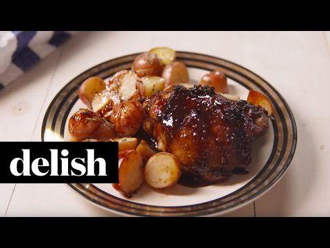 El mejor pollo glaseado balsámico - Cómo hacer pollo glaseado balsámico