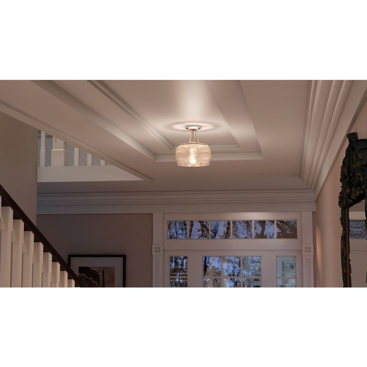 Quoizel Soho W Brushed Nickel Clear Glass Semi Flush Mount Light At Lowes The Is A Nostalgic And Very Chic Design With Finish