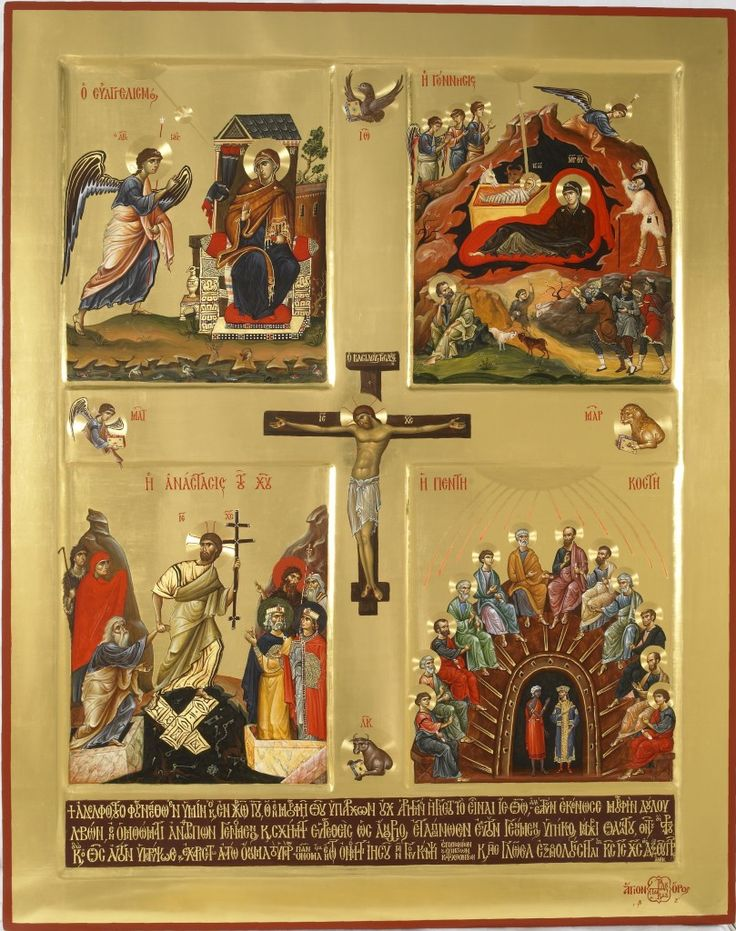 Ευαγγελισμός Γέννηση Ανάσταση Πεντηκοστή