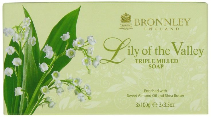Bronnley Lily of the Valley Triple Milled Fine English Soap - A fresh and floral lily fragranced Soap, enriched with Sweet Almond Oil, Shea Butter and natural Lemon oil to help gently cleanse the skin. Following the recent Royal Wedding of Kate and William, where the bridal bouquet featured Lily of the Valley, the flower has enjoyed a renaissance and is now considered a contemporary classic.