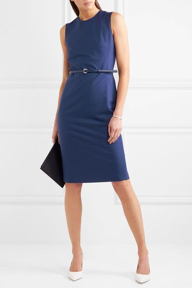 Max Mara - Wool-blend Dress - Blue - UK12