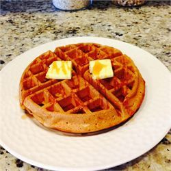 Whole Wheat Coconut Oil Waffles -Made with half and half and buttermilk in place of milk and it was delicious