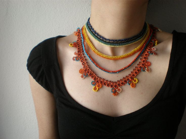 (2) Tumblr Freeform crochet necklaces by irregularexpressions