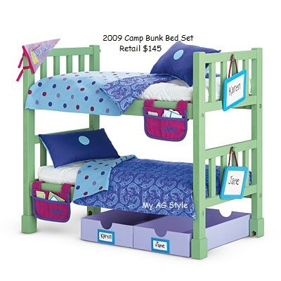 American Girl Doll Camp Bunk Bed Set Furniture By