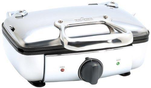 All-Clad 99011GT Stainless Steel Belgian waffle maker with 7 browning settings 2-Square Silver