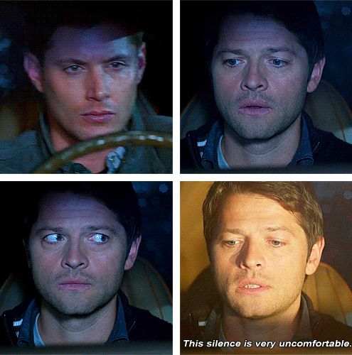 Awkward moments. Dean and Castiel have 'em. 7x17 The Born-Again Identity #Supernatrual #S7
