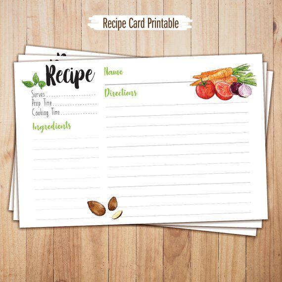 Recipe Cards Printable 4x6 Recipe Cards Recipe Templates Thanksgiving Recipes Recipe Binder Recipe Car Printable Recipe Cards Recipe Cards Recipe Template