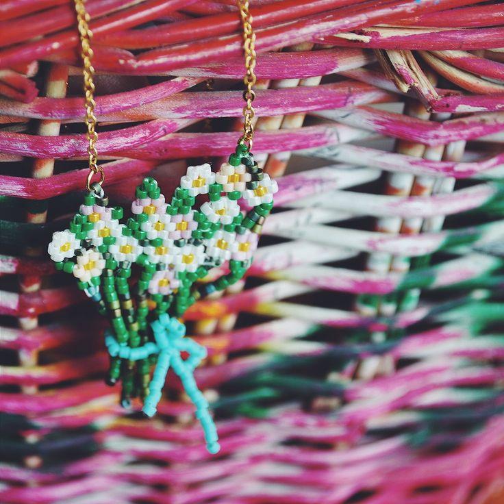 handmade miyuki necklace