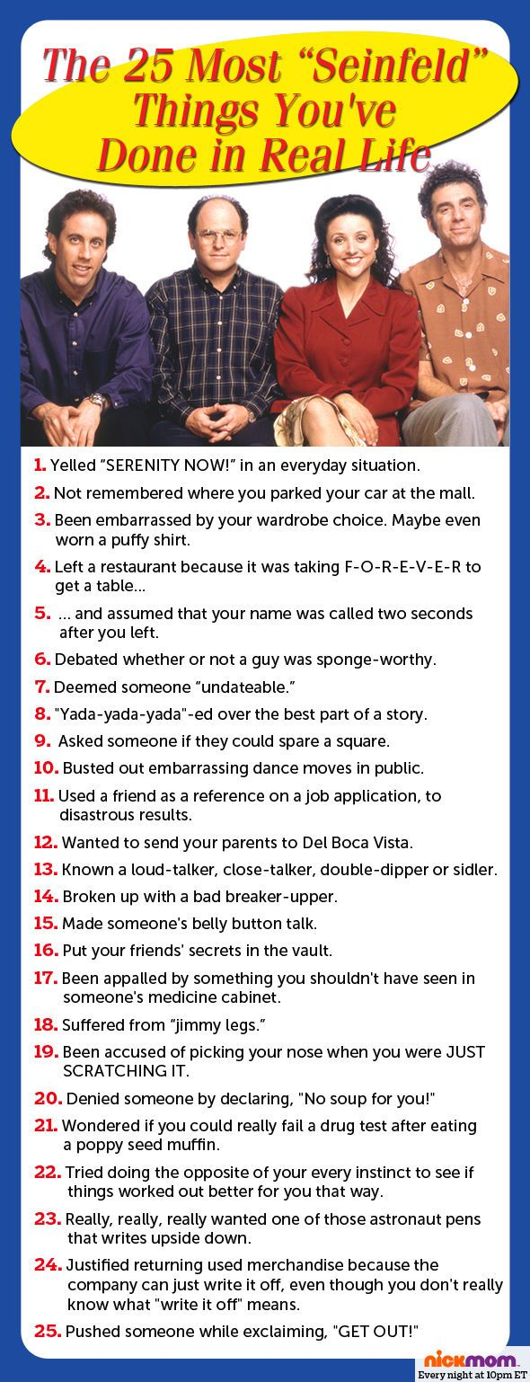 "The 25 Most ""Seinfeld"" Things You've Done In Real Life 