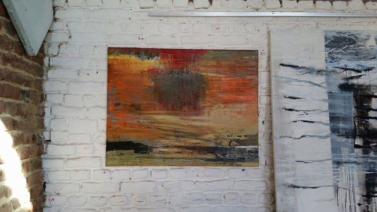 Original Painting Oil on #Canvas #Abstract #Art #Red #Yellow #Green Pierre Debatty #Art #Abstract #BelgianArtists #Binnovart #ForSale Contact Us