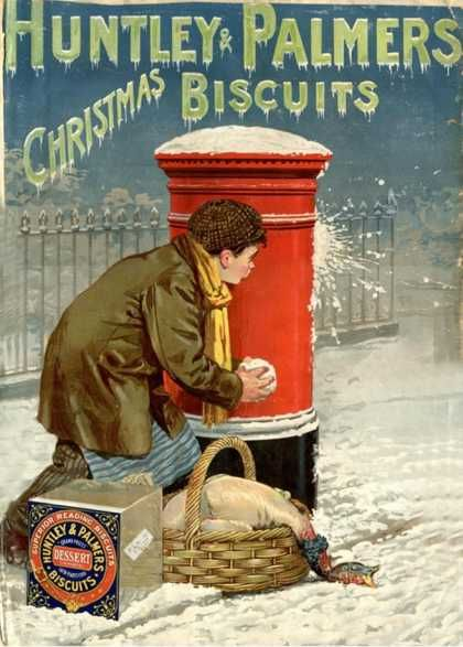 'Huntley & Palmers' Christmas Biscuits. Huntley & Palmers started life in 1822 as a small bakery in London Street, Reading. In 1846 the firm opened a large factory on Kings Road in Reading and by 1900 this business was the largest biscuit manufacturer in the world, employing over 5,000 people. By 1903 Huntley & Palmers produced over 400 different biscuit varieties that were exported all over the world and their tins have turned up in the most unexpected places!