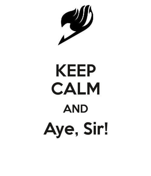 "Fairy Tail: Happy always say ""Aye!"""