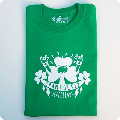 irish shamrocker t-shirt for men and woman. get ready for st patrick's day! by teeandtoast.com