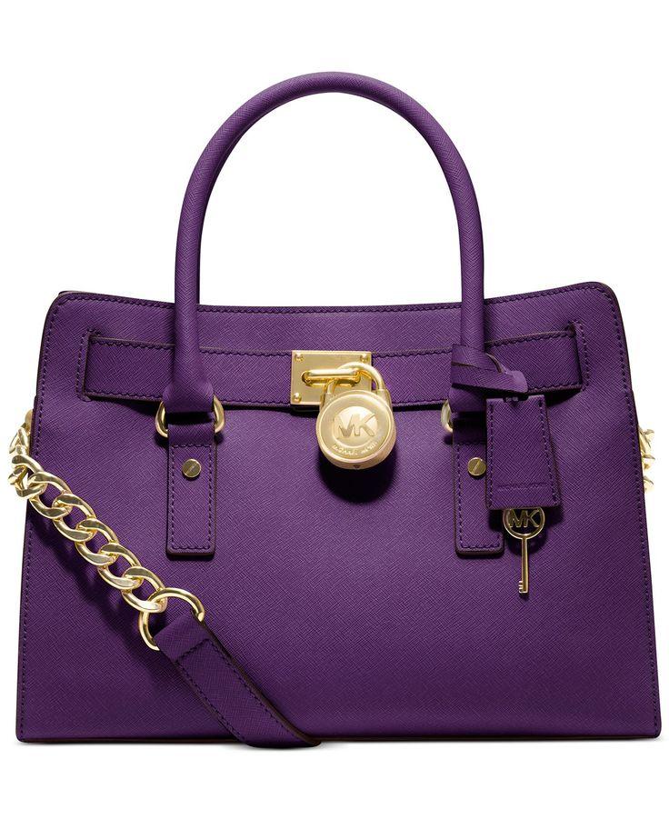 {Bags, Clutches, Purses} MICHAEL Michael Kors Hamilton Saffiano Leather E/W  Satchel - Satchels - Handbags Accessories - Macy\u0027s