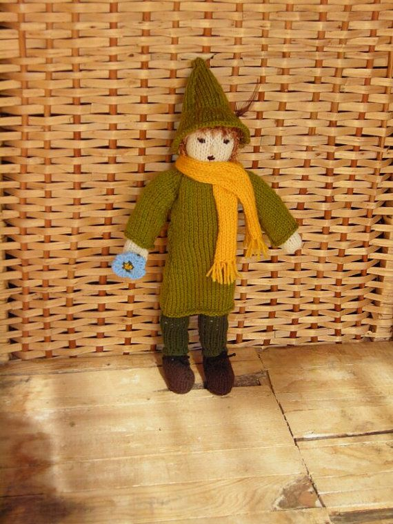 Knitted Snufkin knitted doll knitted dolls by DucklingInOakum