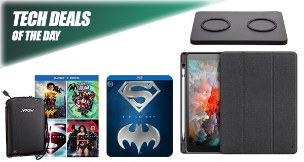 Tech Deals: $15 iPad Pro Case, iPhone X Dual Wireless Charger, Bluetooth Headphones Case With Battery, More