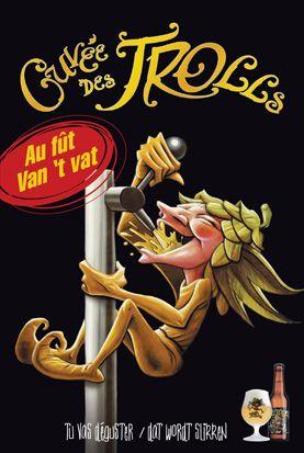 LES CARACTERISTIQUES DE LA BIERE  La Cuvée des Trolls est une bière blonde, filtrée ou non filtrée, fraîche et parfumée, particulièrement ronde et bien équilibrée, extrêmement digeste et titrant 7% de volume alcool. Brasserie Dubuisson