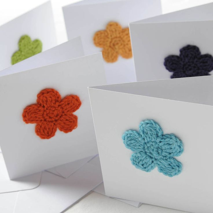 A simple yet tactile greeting card with a crochet flower detail, pick from a bouquet of vibrant colours! £3.50