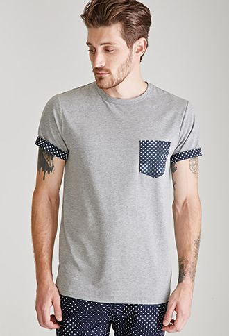 Heathered Polka Dot Pocket Tee  49f7909f0f45