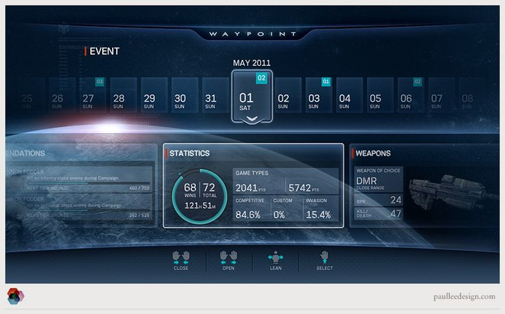 Halo Waypoint UI - Paul Lee Design