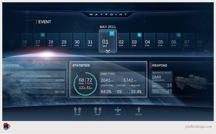 Halo Waypoint UI - Paul Lee Design