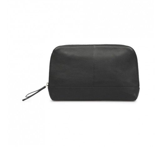 Luelle Clutch in black leather // Markberg