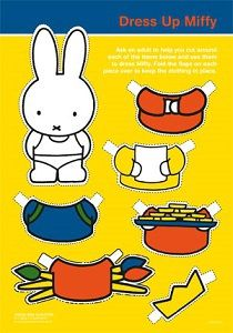 Dress Up Miffy * 1500 free paper dolls from artist Arielle Gabriel The International Paper Doll Society for Pinterest paper doll pals *