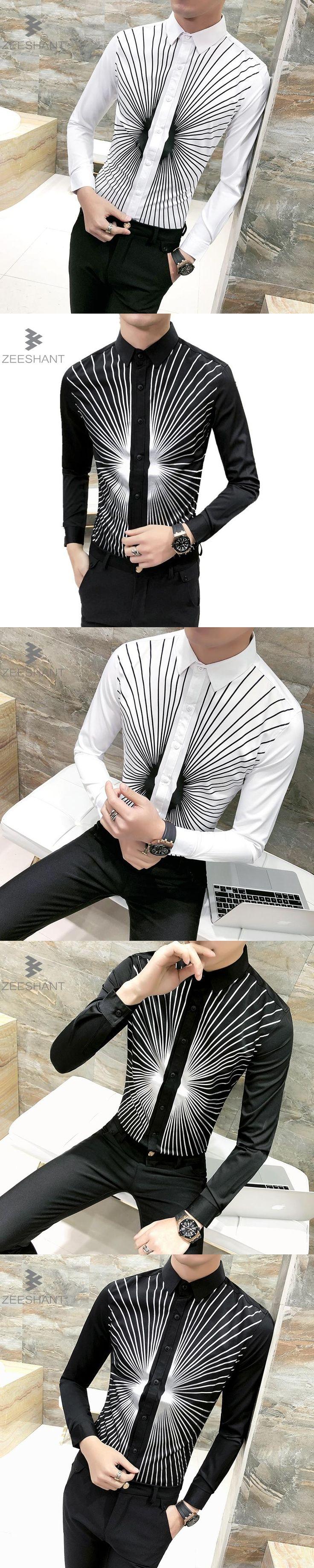 Zeeshant White Black Men Groom Tuxedos Best Men Wedding Shirts Formal Shirts Male in Men's Tuxedo Shirts XXXL