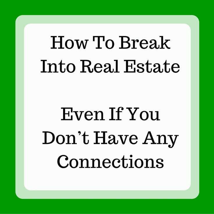 Want to break into real estate? Find out how to get more market transactions headed your way