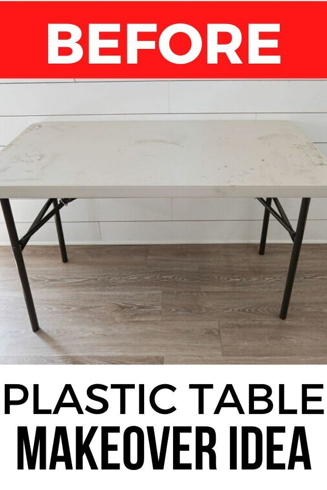 How To Makeover A Plastic Folding Table Idea Diy In 2020 Table