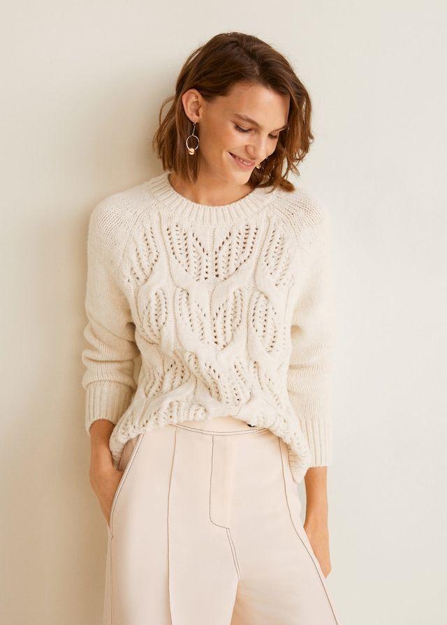 hermoso estilo valor por dinero mejor venta Jersey detalles calados - Mujer | Mango | Knitwear, Knitwear ...