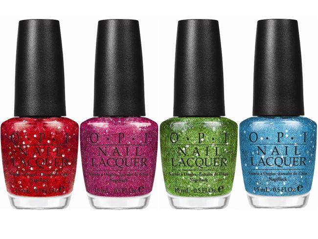 Muppets inspired nail polish!!  L to R: Getting Piggy With It, Excuse Moi, Fresh Frog of Bel Air, Gone Gonzo