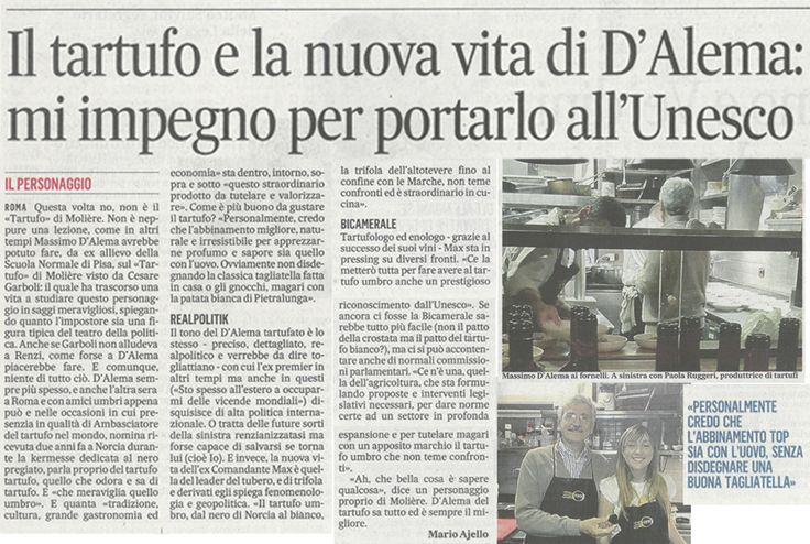 Massimo D'Alema, innamorato del Tartufo - Il Messaggero